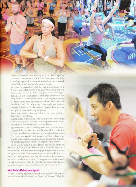 IDEA Fitness Journal, October 2015 page